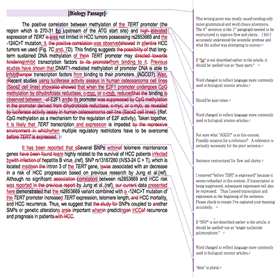 Biology after editing